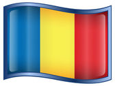 Romania Flag icon — Stock Vector
