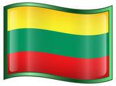 Lithuania Flag Icon — Stock Vector