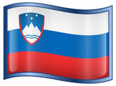 Slovenia Flag icon — Stock Vector