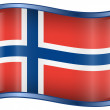 Norwegian Flag icon. — Stock Vector