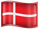 Danish Flag icon. — Stock Vector