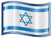 Israeli Flag icon. — Stock Vector