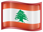 Lebanese Flag icon. — Stock Vector