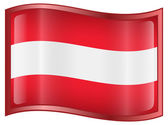 Austrian Flag icon. — Stock Vector