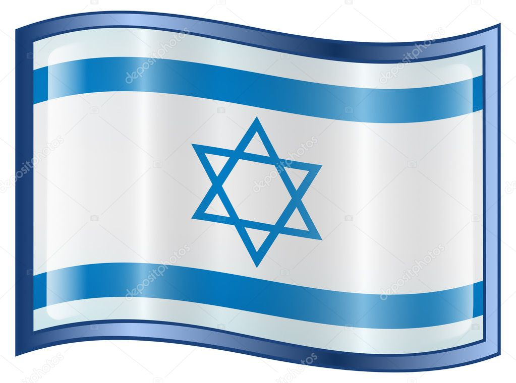 Israeli Flag icon, isolated on white background. — Stock Vector #2597924