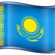 Kazakhstan Flag icon. — Stock Vector