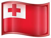 Tonga Flag icon. — Stock Vector