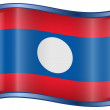 Laos Flag icon. — Stock Vector