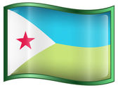 Djibouti Flag icon. — Stock Vector