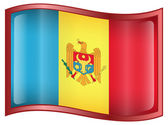 Moldova Flag icon. — Stock Vector