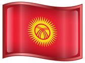 Kyrgyzstan Flag icon. — Stock Vector