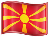 Macedonia Flag icon. — Stock Vector
