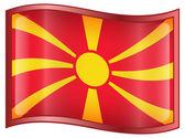Macedonia Flag icon. — Stock Vector