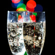 Champagne Glasses  with Sparkling Ligh — Foto de Stock