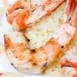 Stock Photo: King tiger prawn shrimp with rice