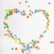 Colourful candy stars — Stock Photo