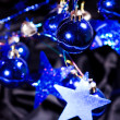 Christmas blue balls - Stock Photo