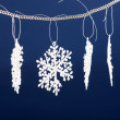 Beautiful snowflakes — Stock Photo