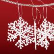 Beautiful snowflakes — Stock Photo