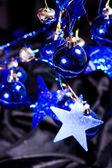 Christmas blue balls — Stockfoto