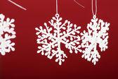 Mooie sneeuwvlokken — Stockfoto