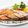 salmon steak — Stock Photo