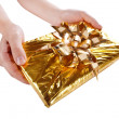 Royalty-Free Stock Photo: Christmas present in the hands