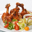Grilled chicken legs — Stock Photo