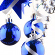 Christmas blue balls — Stock Photo #1120203