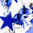 Christmas blue balls - Foto de Stock