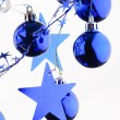 Christmas blue balls — Stock Photo