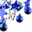 Christmas blue balls — Stock Photo #1120260