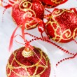 Red Christmas balls — Foto de stock #1124804