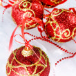Red Christmas balls — Foto Stock #1124804