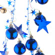 Christmas blue balls — Stock Photo #1125825