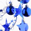 Christmas blue balls - Stockfoto