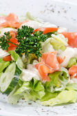Salad wish fish — Stock Photo