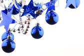 Christmas blue balls — Stockfoto