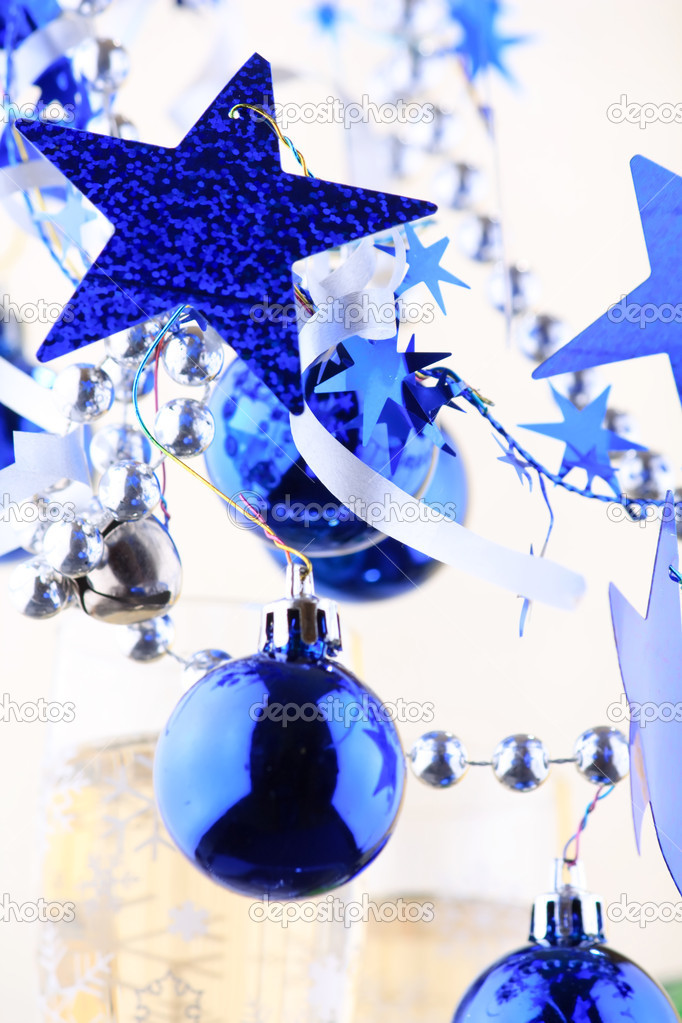 Christmas blue balls — Stock Photo #1125948