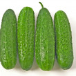 Stock Photo: 4 cucumbers
