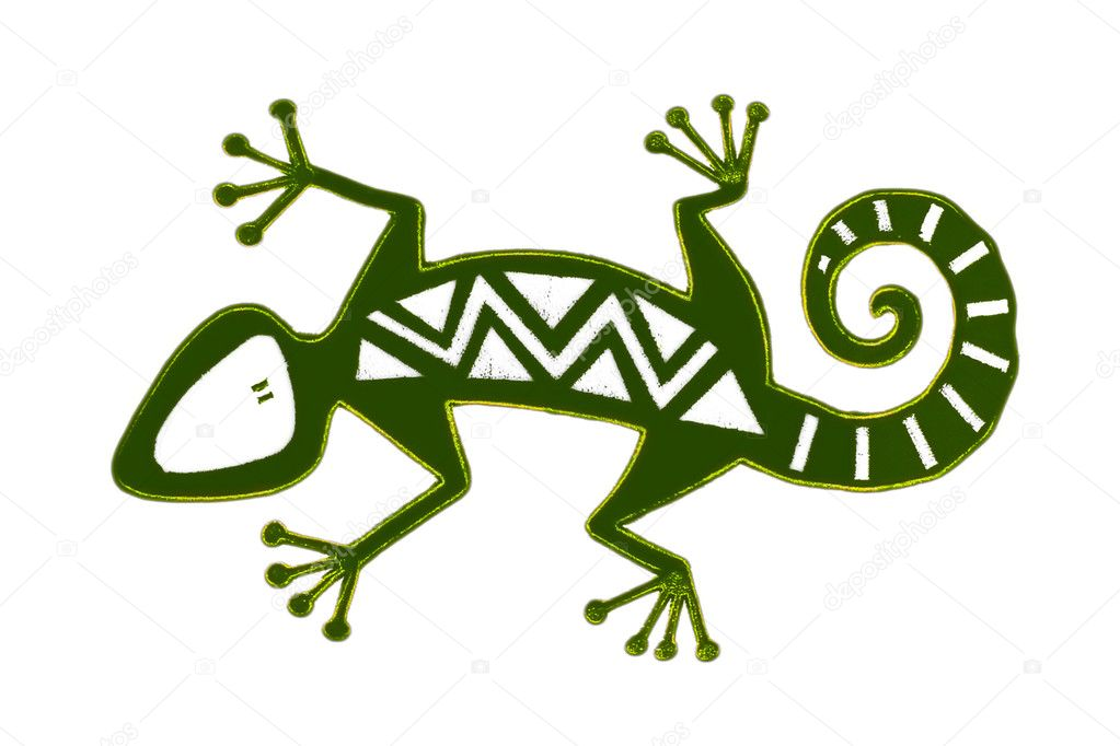 Abstract reptile, isolated  — Stock Photo #1049838