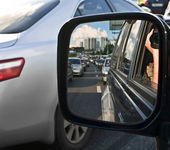 Driving mirror — Stock Photo