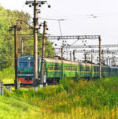 Electric train — Stockfoto