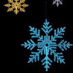 Neon snowfall — Stock Photo #1129344