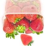 Big strawberries in plastic package — Stock Photo #1129418