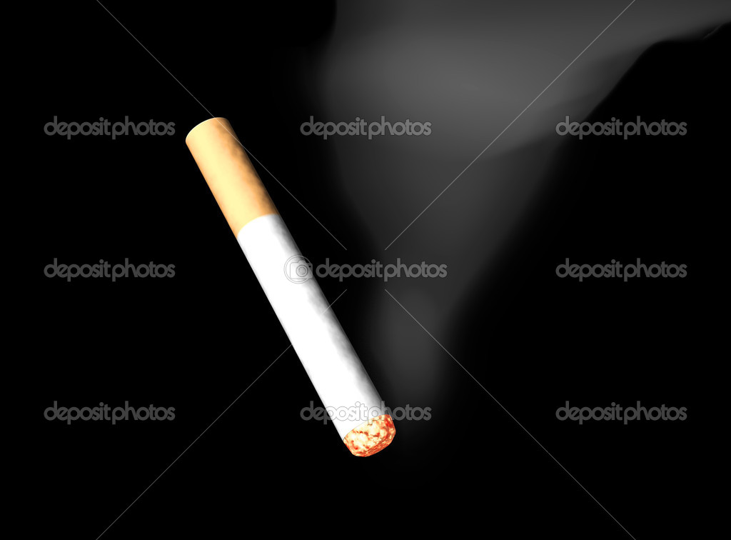 The started cigarette, 3d isolation — Stock Photo #2158208