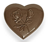 Chocolate heart — Stock Photo