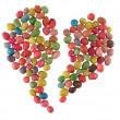 Stock Photo: Sweet candies broken heart