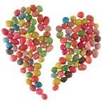 Sweet candies broken heart — Stock Photo