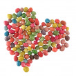 Stock Photo: Sweet candies heart